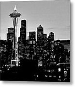 Stark Seattle Skyline Metal Print