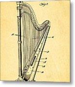 Starke Harp Patent Art 1931 Metal Print