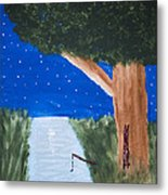 Starlight Fishing Metal Print by Melissa Dawn