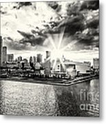 Starlight Over The American Airlines Arena Metal Print