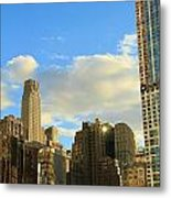 Manhattan Skyline Here Comes The Sun Metal Print by Dan Sproul
