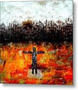 Starring At The Black Forest Metal Print
