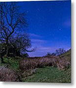 Starry Night Above Hadrians Wall Metal Print
