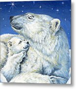 Starry Night Bears Metal Print by Richard De Wolfe