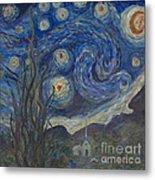 Starry Night Copy 8 Metal Print