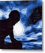 Starry Night Depression Metal Print