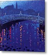Starry Night In Dublin Metal Print