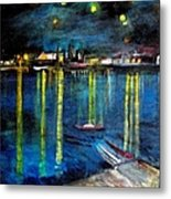 Starry Night Over The Rhone River Metal Print