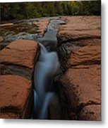 Starry Night Sluice Box Photography At Red Rock Crossing Metal Print
