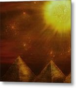 Starry Pyramid Night-original Sold-buy Giclee Print Nr 34 Of Limited Edition Of 40 Prints  Metal Print