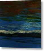 Starry Sky Over Water Metal Print