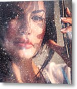 Starry Woman Metal Print