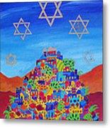 Stars Above Jerusalem Metal Print