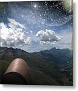 Stars And Planets In A Valley Metal Print