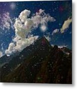 Stars And Planets On Mont Blanc Metal Print