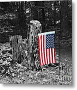 Stars And Stripes With Selective Color Metal Print