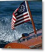 Stars And Stripes Ensign Metal Print by Steven Lapkin
