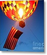 Stars And Stripes Glow Metal Print