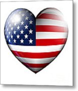 Stars And Stripes Metal Print by Fenton Wylam