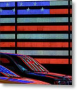 Stars And Stripes Reflected Metal Print