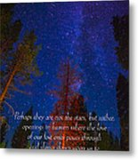 Stars Light Star Bright Fine Art Photography Prints And Inspirational Note Cards Metal Print