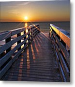 Stars On The Boardwalk Metal Print by Debra and Dave Vanderlaan