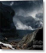 Stars Over Salt Water Metal Print