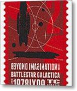 Starschips 02-poststamp - Battlestar Galactica Metal Print