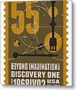 Starschips 55-poststamp -discovery One Metal Print by Chungkong Art
