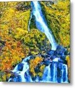 Starvation Creek Falls Metal Print