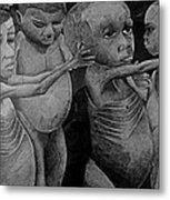 Starving Children Awaiting Relief Food Metal Print