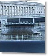 State Capital Fountain Metal Print