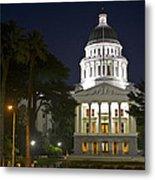 State Capitol At Night Sacramento Metal Print
