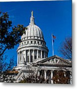State Capitol In Madison Wi Metal Print