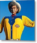 State Fair Of Texas Big Tex Yellow Metal Print