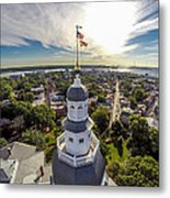 State House Beauty Over Annapolis Metal Print