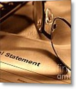 Statement With Glasses Metal Print