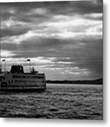 staten island ferry Andrew J Barberi heading towards staten island Metal Print