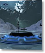 Station 211 Alien Nazi Base Located Metal Print
