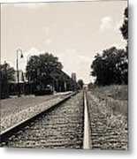 Station In The Distance Metal Print