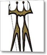 statuary - landmark of Brasilia city Metal Print