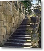 Statue And Stairs Metal Print