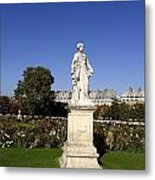 Statue At The Jardin Des Tuileries In Paris France Metal Print
