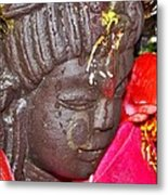 Statue At The Vishwanath Temple - India Metal Print