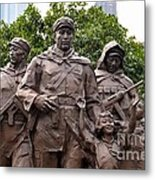 Statue Depicting Glory Of Chinese Communist Party Shanghai China Metal Print