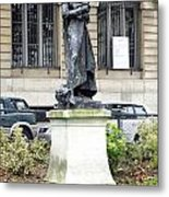 Statue In A Paris Park Metal Print