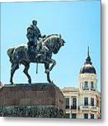 Statue In Montevideo Uruguay Metal Print