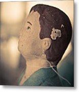 Statue Of A Boy Praying Metal Print