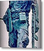 Statue Of An Old Revolutionary Cuban Metal Print