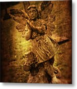 Statue Of Angel Metal Print by Amanda Elwell